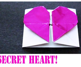 How to make an Origami Valentine's Day Secret Heart!
