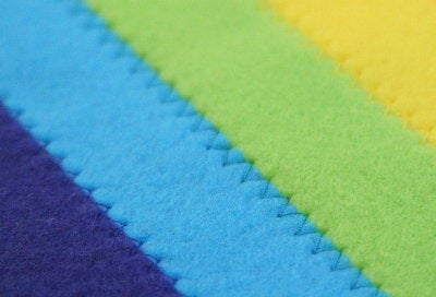 Sew All Strips to Make a Rainbow Pattern