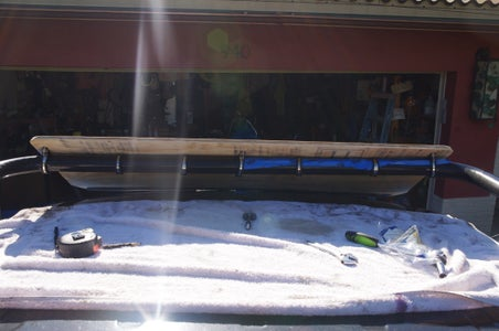 Truck Rack Roof Spoiler Air Dam Diffuser.