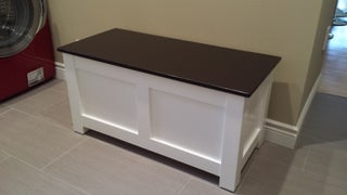 Making Entryway Storage Bench