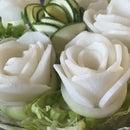 Super Easy Salad Roses