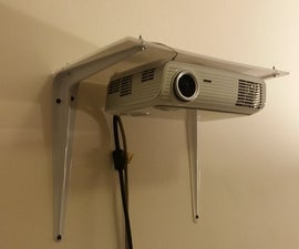 Wall projector mount, laser cut