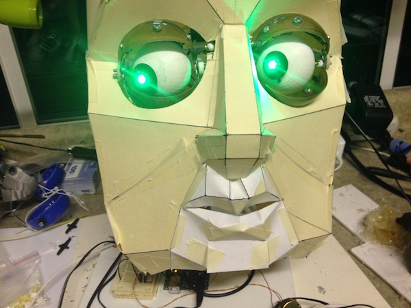 Picture of Animatronic Eyes and Wii Nunchuck Part 2 - Give It a Voice