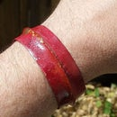 Foldformed Copper Bracelet With Red Heat Patina