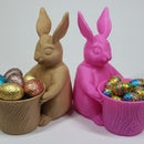 Support Free Easter Bunny Toy/Pot/Planter