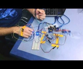 controlled robotic arm with hand gestures
