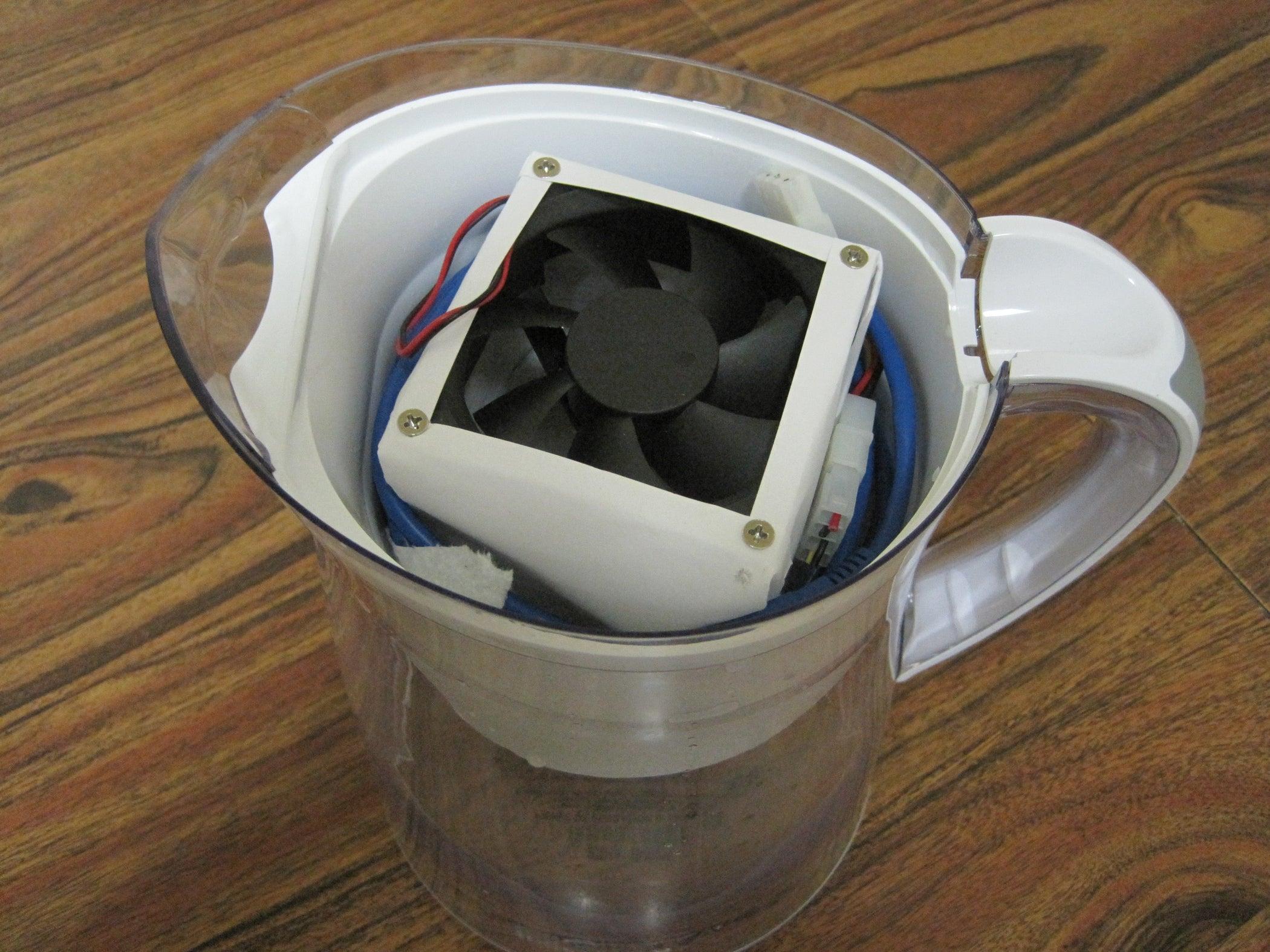 Build a Discreet USB Air Conditioner With a Brita Pitcher: 7 Steps