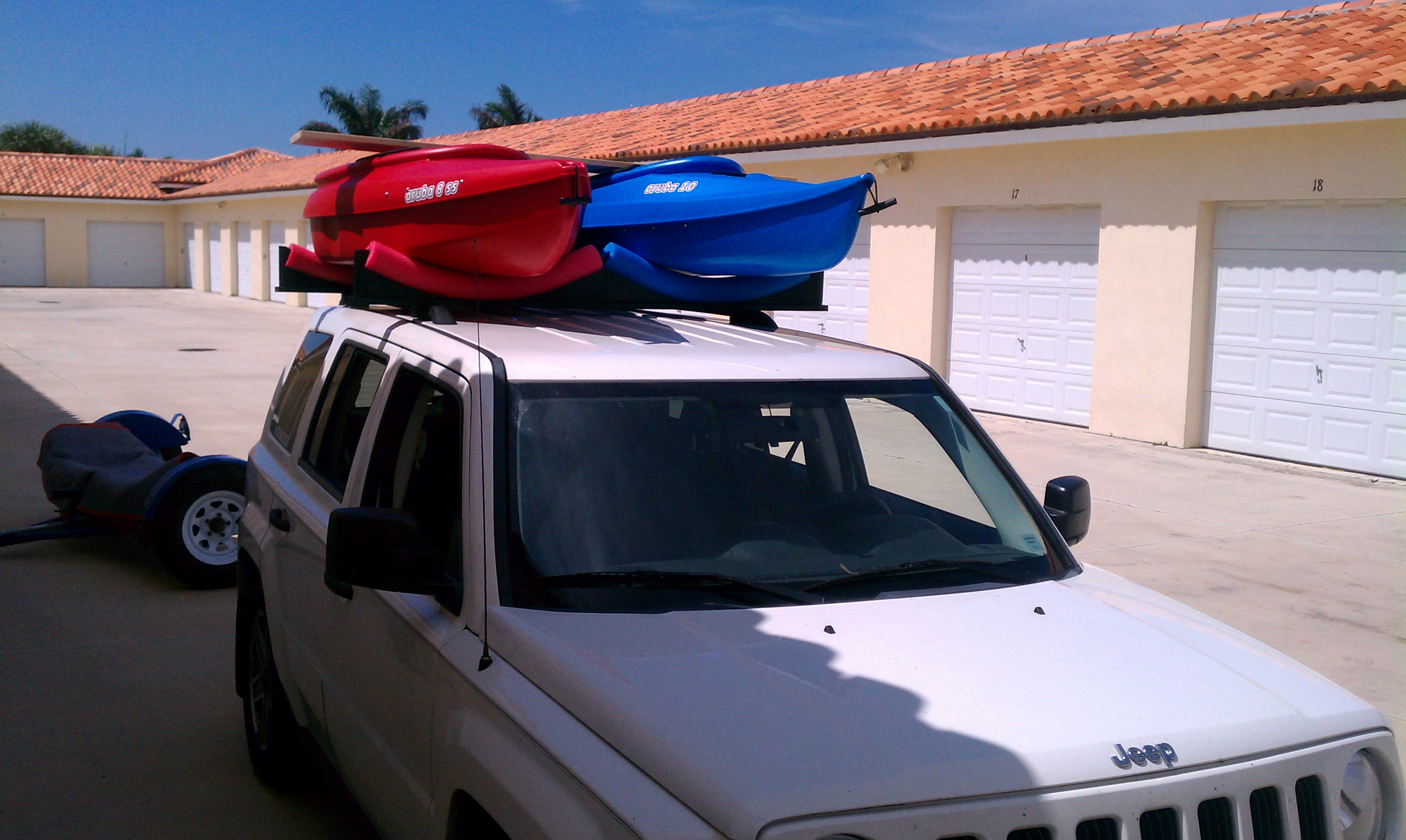 Picture of Car Top - 2 Kayak Rack (roof Rack Cars Only) About 30 Bucks...