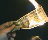 Burning Dollar Magic Trick