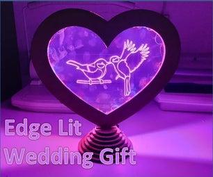 Edge Lit Wedding Gift