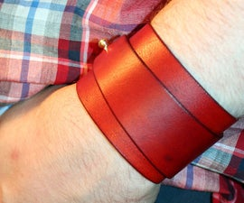 Seample fashion leather handmade cuff.