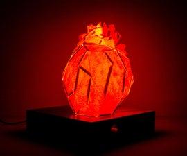 Pulse Sensing Faceted Heart Lamp