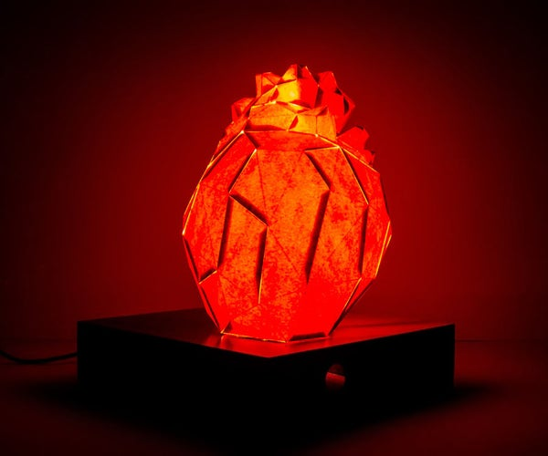 Pulse Sensing Faceted Heart Lamp