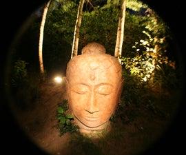 Giant Concrete Buddha Head Garden Sculpture