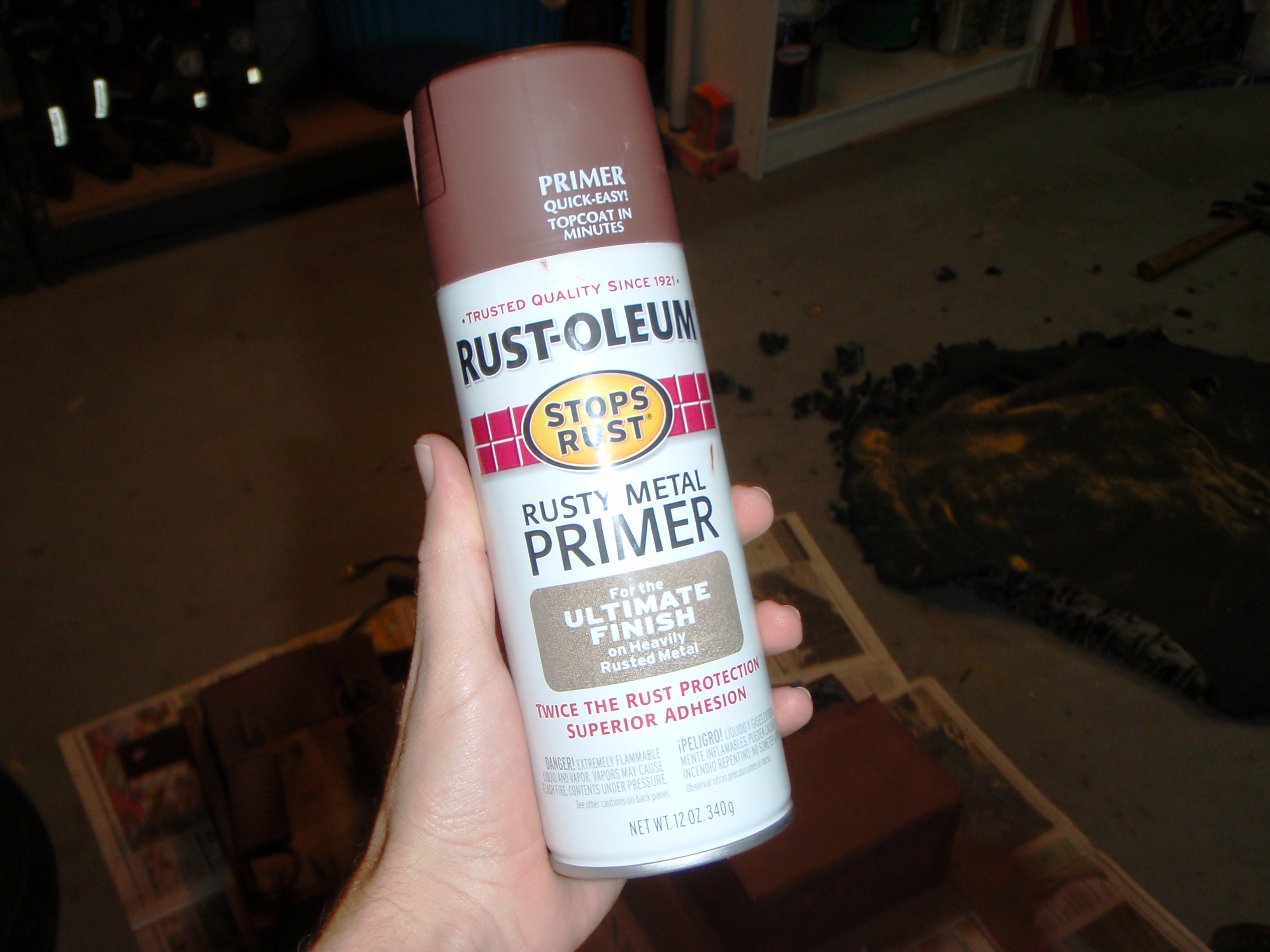 Picture of Rustoleum Meets a Rusty Frame