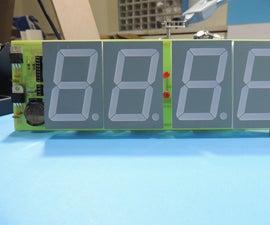 7 SEGMENT DIGITAL CLOCK AND THERMOMETER