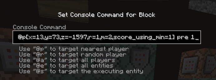 Picture of Player Selector in Commands