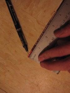 Mark 1/4 Inch Off Each End