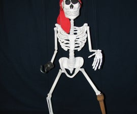 Pirate Skeleton Trick Marionette Puppet