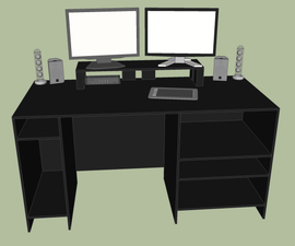 Desk, Shelves and SketchUp