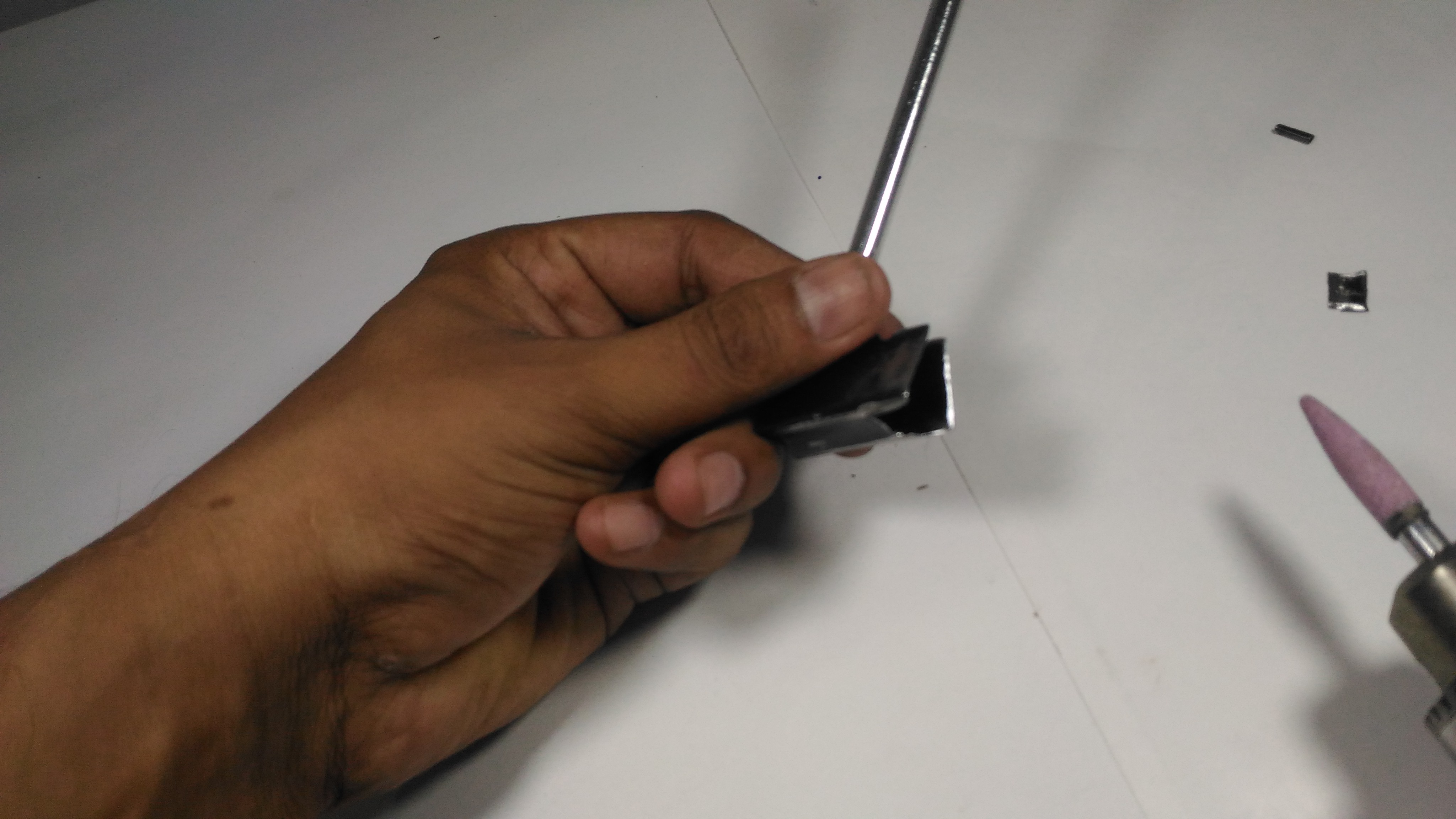 Picture of Cutting Groove to Accommodate Scion/stock