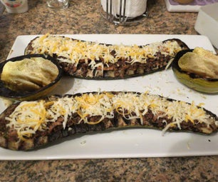 Using Up a Giant Zucchini for a Party Meal