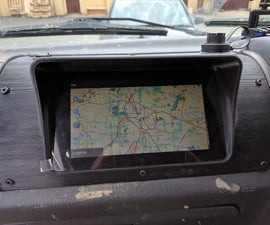 3D Printed In-Dash GPS Navigation - Raspberry Pi 3.
