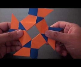 How to make an origami 8 Pointed Ninja Star (Frisbee)!