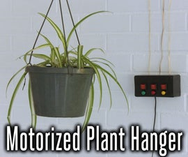 Motorized System for Raising and Lowering Hanging Plants