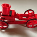 Balloon Powered Single Cylinder Air Engine Open Chassis