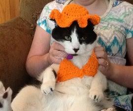 EasyCrocheted cat bikini and sun hat