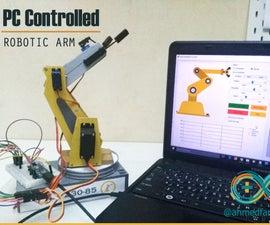 PC Controlled Robotic Arm