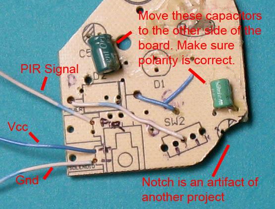 Picture of Preparing the PIR Module