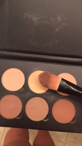 Take Out Your Contour Kit and Apply the Lighter Powder to Where You Applied the Lighter Foundation