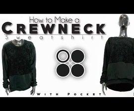 Easy DIY Sew From Scratch | Crewneck Sweatshirt With Pocket
