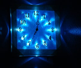Glass Clock with LED backlight