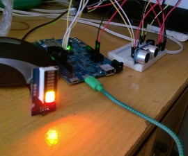 Intel Edison Simple Distance Sensor with Grove LED Bar Indicator and Buzzer