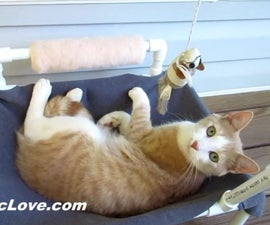 PVC Cat Hammock With Toys