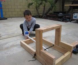Easy Backyard Catapult for Hero Dads