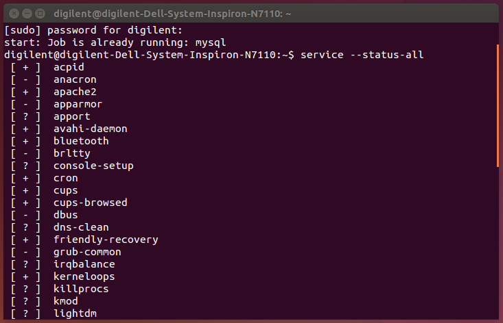 Picture of Configuration and Status