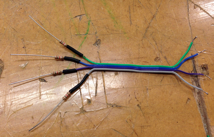 Picture of Rainbow Cable Setup (Connecting Forward,Reverse,Right and Left)