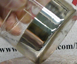 Make Glass Mirrors With Silver Nitrate, Sugar,  Ammonia and Sodium Hydroxide