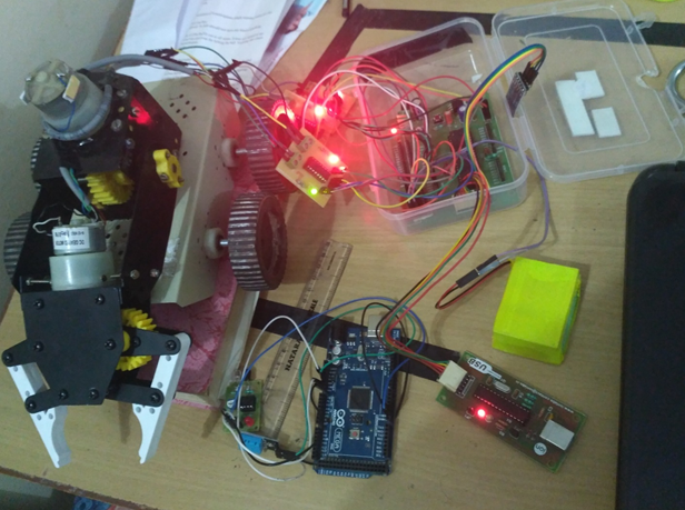 Picture of Wireless Crane Model (SMART BOT) With Spying Camera Over the Network(wifi or Hotspot)