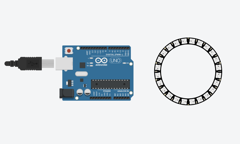 Picture of Create a New Circuit With an Arduino Uno and NeoPixel Ring