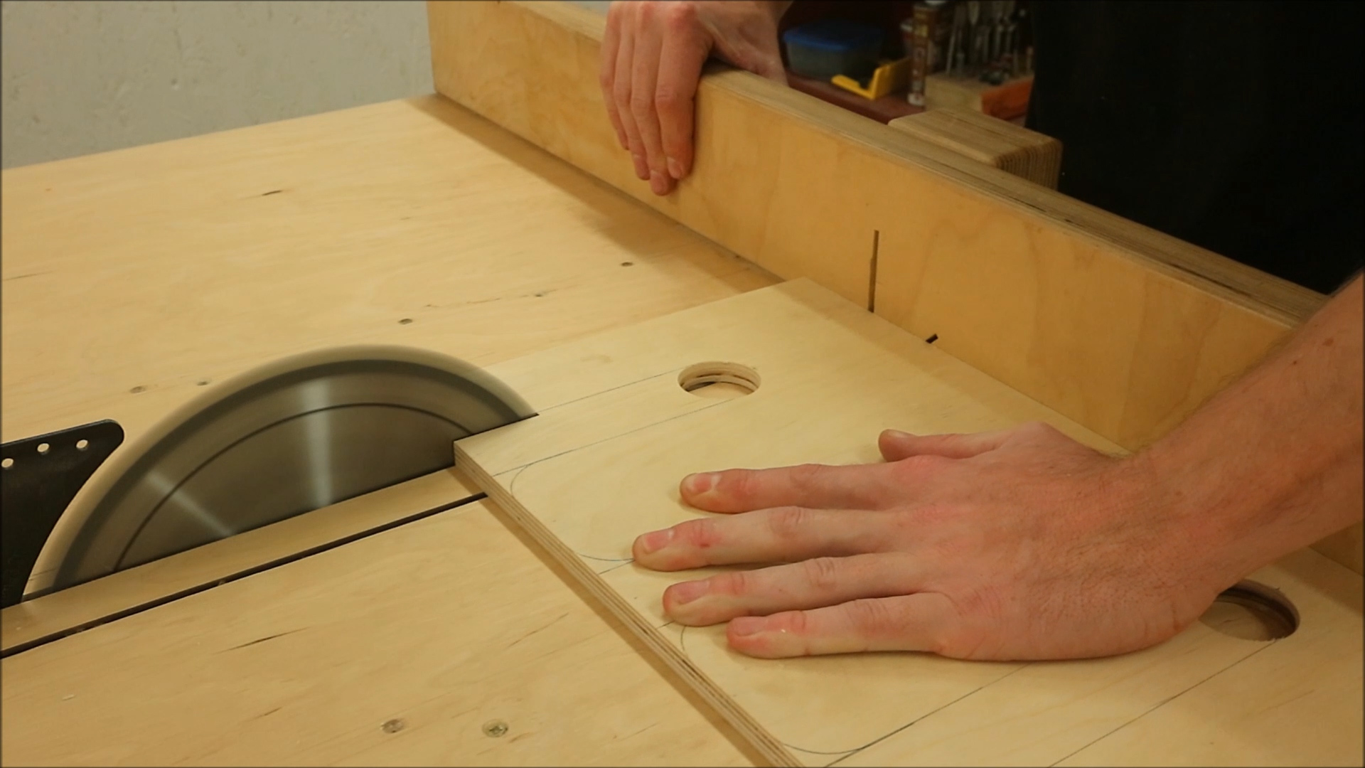 Picture of Making the Shelf to Hold the Tools