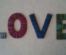 Yarn-Wrapped LOVE