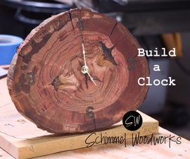 Making a clock from a piece of a log