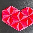 3D Origami.  Сердце Из Модульного origami.