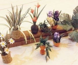 Miniatures Paper Plants for Doll House