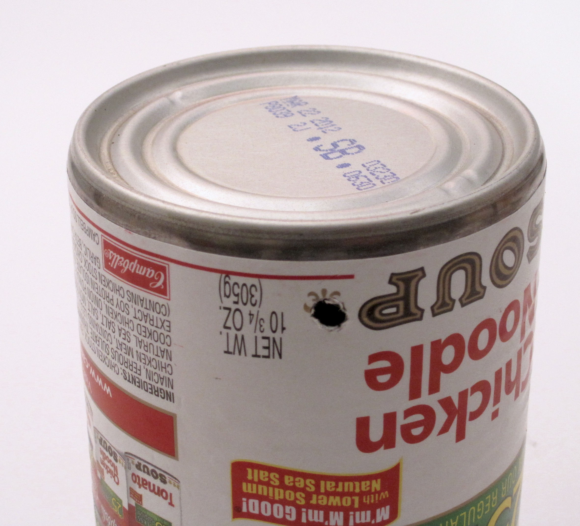 Picture of Drill Hole in Side of Can for the Wire